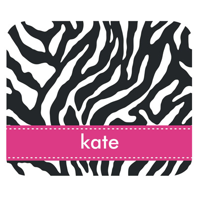Clairebella Personalized Mouse Pad Zebra Black